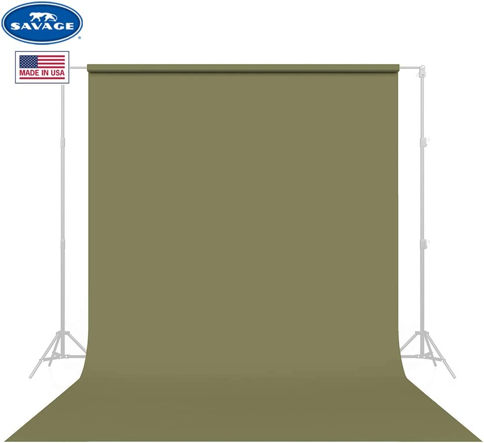 Savage Seamless Background Paper - #34 Olive Green (53 in x 36 ft)