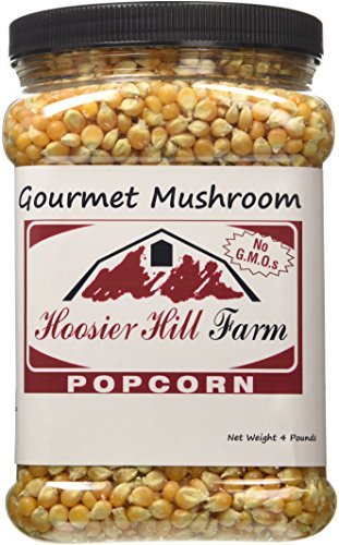 Gourmet Popcorn Tub (Hoosier Hill Farm Gourmet Mushroom, Popcorn Lovers 4 lb. Jar.)