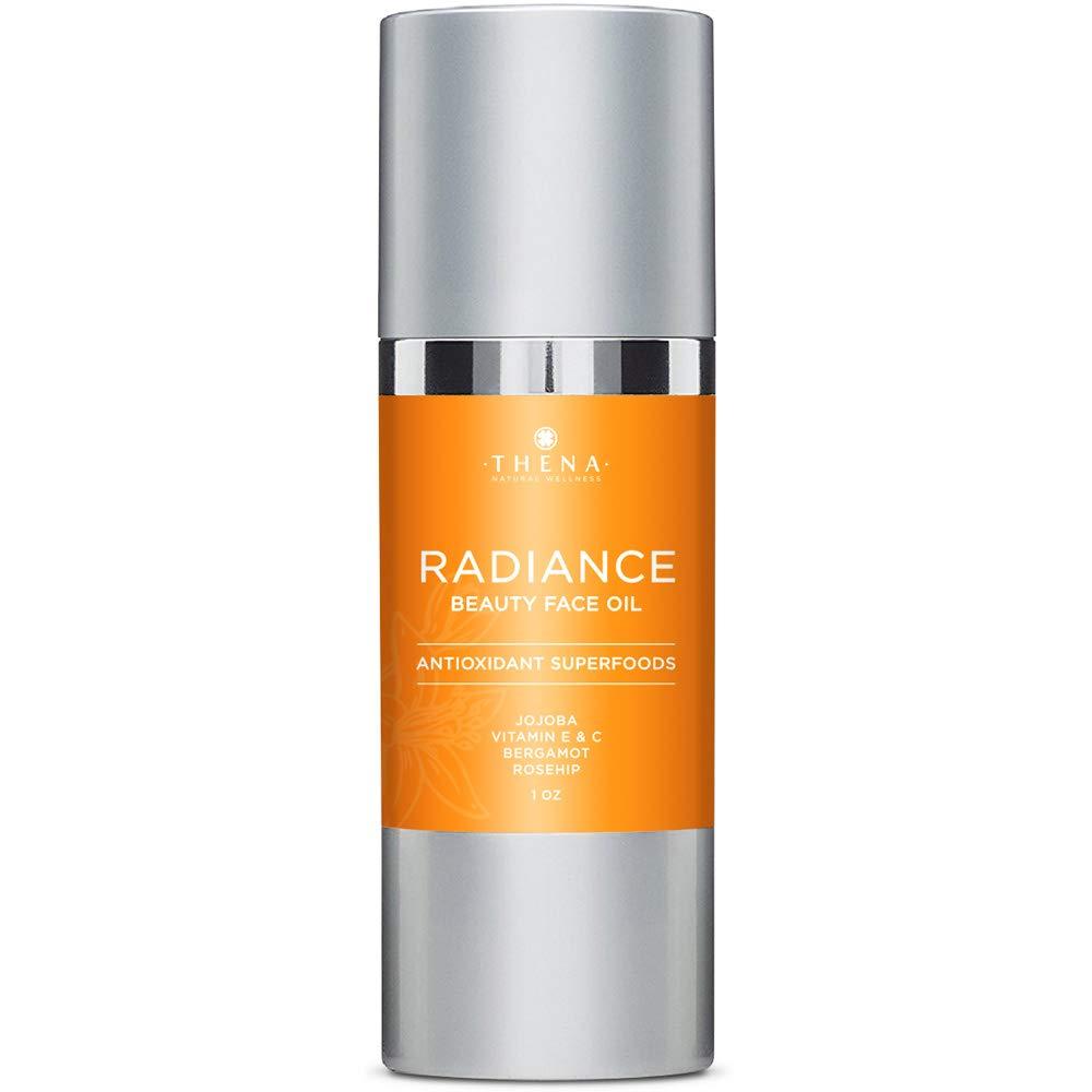 Organic Anti aging Face Oil Serum With Vitamin C & E Jojoba Argan Rosehip Essential Oils, All Natural Facial Moisturizer Lotion Best Beauty Treatment Product For Dry Sensitive Skin Care Women Men