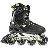 Rollerblade Macroblade 80 Alu 16 All Around Skate, Black/Yellow, US Size 11