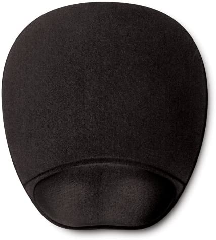 Memory Foam Mouse Pad Mat with Wrist Rest Black