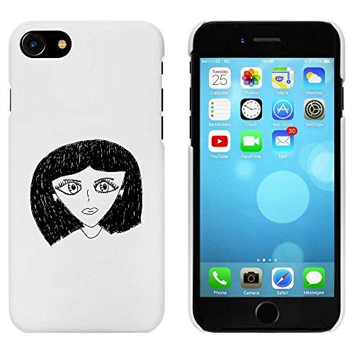 Blanc 'Visage de Femme' étui / housse pour iPhone 7 (MC00068056)