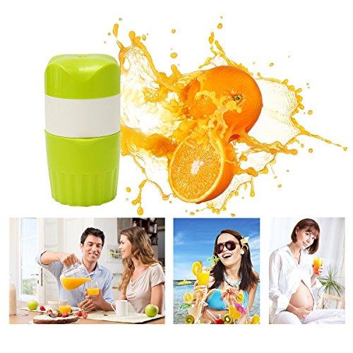 Baban Juicer Squeezer, Manual Juicer Household Portable Safety Mini Multifunctional Fruit Lemon Orange Apple vegetable Squeezer Stainless Steel Strainer Cup