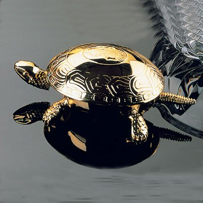 El Casco 23kt Gold Plated Turtle Service Bell M-700L