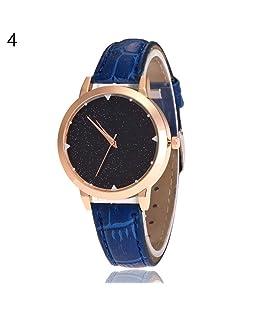 Men Women Slim Band Starry Sky Quartz Analog No Number Wrist Watch Gift