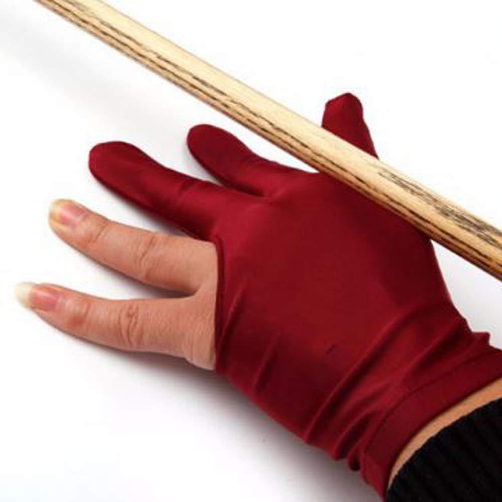 f/ür Linksh/änder 3 Finger PINKLADY Snooker-Handschuh//Billard-Handschuh Spandex