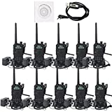 Retevis RT5 Two-Way Radio Transceiver 8W Dual Band 136-174/400-520MHz 128 CH VOX DTMF FM Radio 1750Hz Walkie Talkies (10 Pack,Black)