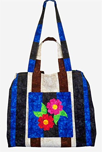 Rose Cottage Embroidery - Expandable Tote Pattern