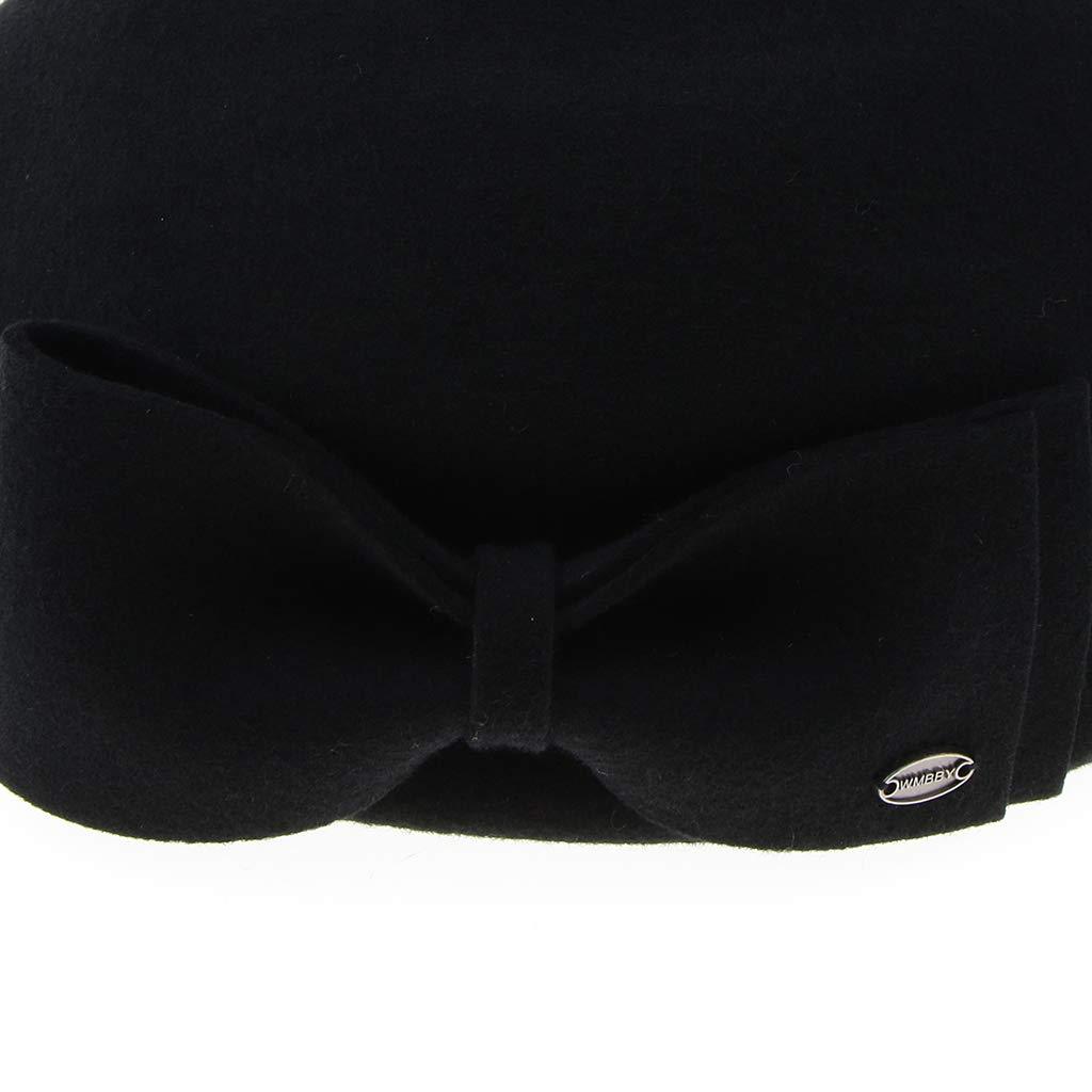 0347169d394ad perfeclan Boina Vasca de Lana Gorro Francesa Sombrero de Pintor Artista  Elegante para Fiestas de Disfraces - Negro