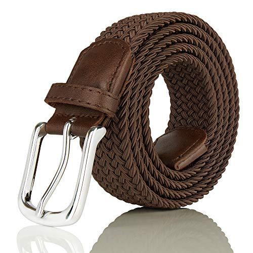 [해외]JUKMO Elastic Braided Belt Durable Stretch Woven Belt in Gift Box / JUKMO Elastic Braided Belt, Durable Stretch Woven Belt in Gift Box (Coffee, Medium)