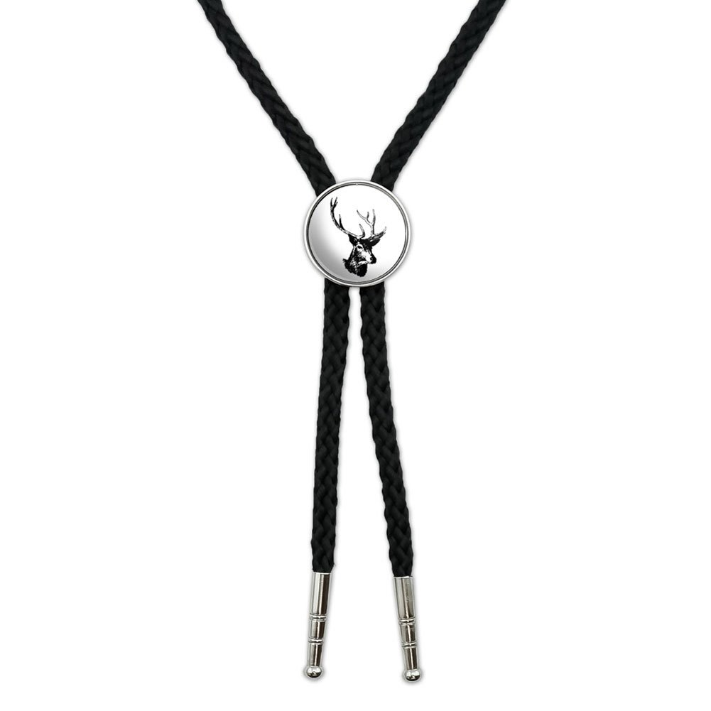 Deer Head - Buck - Deer Hunting Western Southwest Cowboy Necktie Bow Bolo Tie Graphics and More BOLOTIE.PL.0706