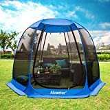 Alvantor Screen House Room Camping Tent Outdoor Canopy Dining Gazebo Pop Up Sun Shade Hexagon Shelter Mesh Walls Not Waterproof 10'x10'x7' Patent