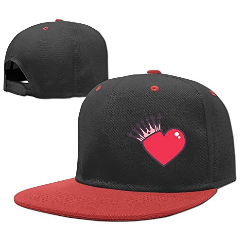 YELOFISH Kids' Hip Hop Baseball Caps Heart Crown Snapback Hats