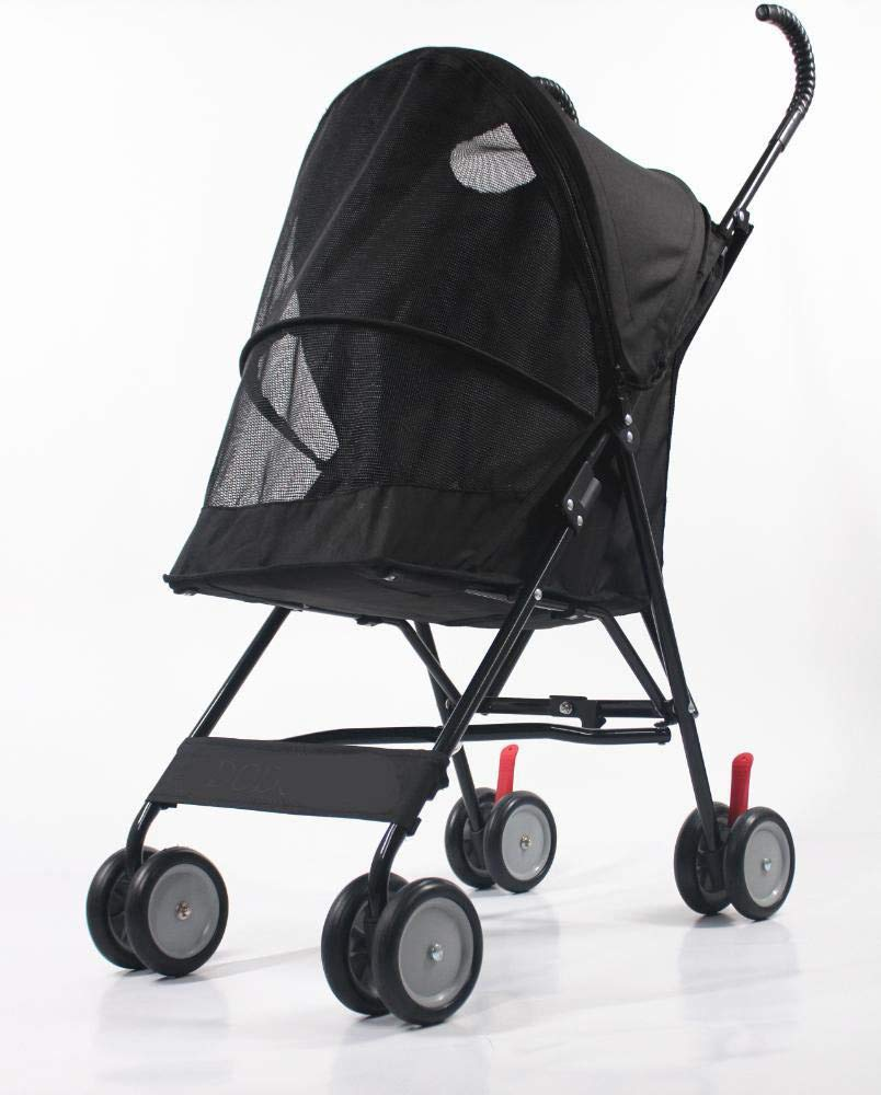 B Daeou Pet StrollerOut of the small and medium-sized portable dog carts can be folded four rounds