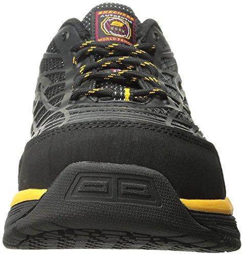 Skechers Lavoro 77069 Conroe acciaio Toe lavoro di scarpe Black/yellow