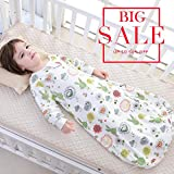 Floral Toddler Sleep Blankets Wearable Cotton Detachable Sleeve Baby Sleeping Bag or Sack for Boys Girls L