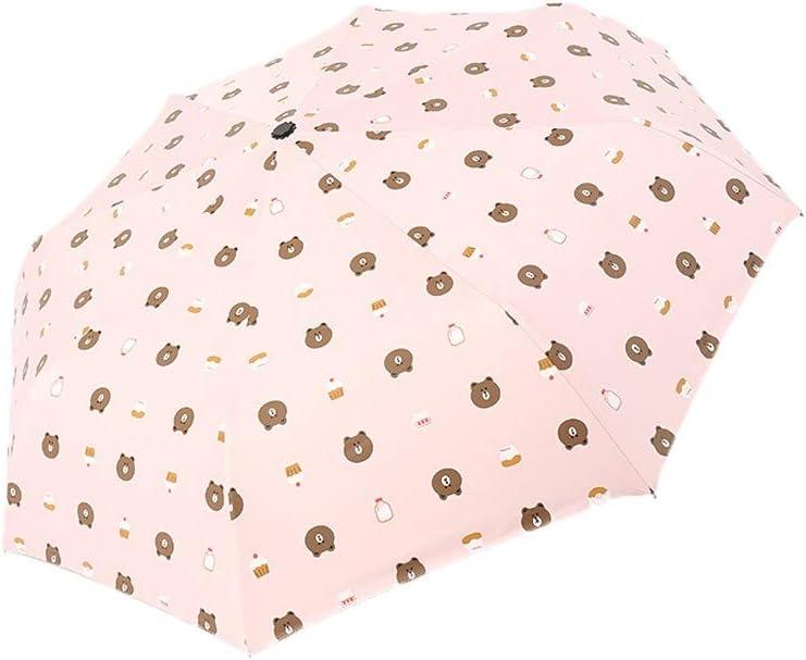 Multifunction Automatic Umbrellas Anti UV Coating Folding Umbrellas Windproof UV Compact Umbrella Portable Sun YAXY Folding Umbrella 8 Ribs Compact Travel Splash-Proof Umbrella with Coating