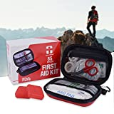 Camping First Aid Kit, Emergency Survival Kit FDA Certification for Hiking, Home, Office, Workplace, Car, plus 2 pill cases by REBEN DEFENDER