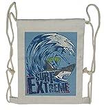Ambesonne Vintage Drawstring Backpack, Extreme Sports Retro, Sackpack Bag