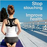 Posture Corrector for Men and Women - Comfortable Upper Back Brace Clavicle Support Device for Thoracic Kyphosis and Shoulder - Neck Pain Relief - FDA Ready