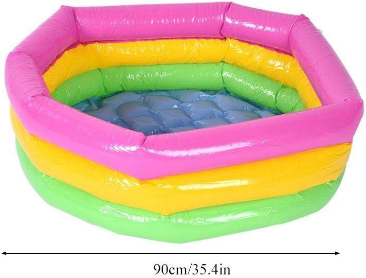 60CM Zerodis Spielzeug Runde Pool DREI Schicht Regenbogen Aufblasbare Spielzeug Tragbare Outdoor Indoor Anti Flip Kinder Becken Badewanne Schwimmbad Spielzeug Geschenk f/ür Kinder