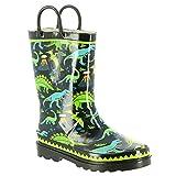 Western Chief Kids Dino Motion Rain Boot Black 11