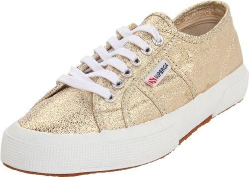 Superga Women's 2750 Lamew Fashion Sneaker,Gold,41.5 EU/10 Women's/8.5 Men's M US