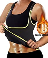 Ursexyly Women Sexy Workout Tank Top Sport Sauna Suit Neoprene Adjustable for Sweat Slimming