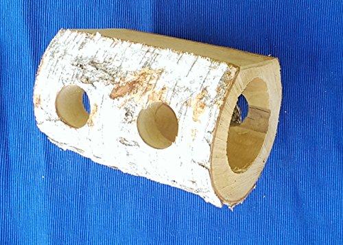 Unbehandelter Nagertunnel aus heimischer Birke für Nagetiere aller Art