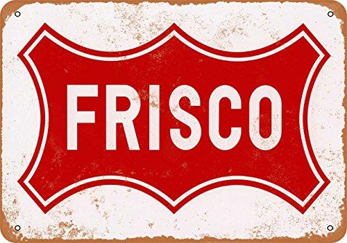 (Wall-Color 7 x 10 Metal Sign - Frisco Railroad - Vintage Look)