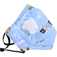 Kids Anti Pollution Cover With Activated Carbon N-95 Filters Dust Cover (Blue)