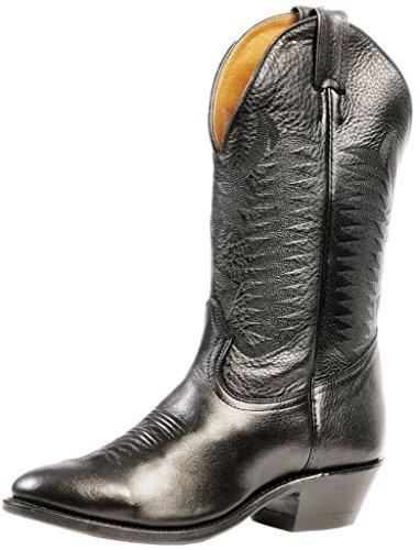 Bottes américaines - santiags: bottes country BO-9502-72-E (pied normal) - Homme - Noir - 44.5