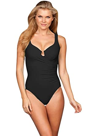 f9facaabacebc Miraclesuit Plus Size Solid Black Escape Underwire One Piece Swimsuit Size  22W