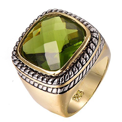 Peridot 925 Sterling Silver Filled Gold Filled Ring Size 9
