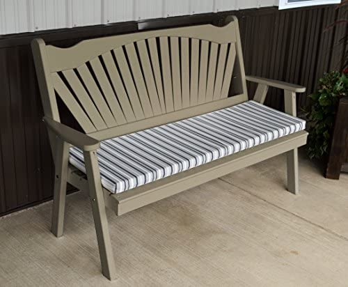 Best Garden Bench, 5 Fanback Porch Benches for Outdoor Entertaining, Designer Patio Lanai Seating Living Furnishings, USA Amish Made for Deck, Pergola and Pool Furniture, 9 Fun Colors