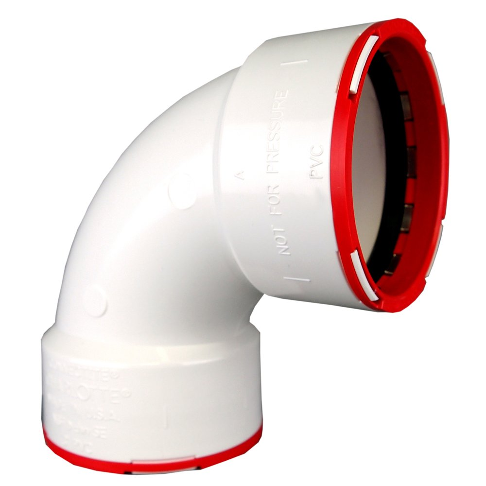 Drain, Waste and Vent Charlotte Pipe 3 Connectite 1//4 Bend Hub X Hub PVC DWV Schedule 40 Single Unit