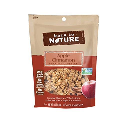 - Back to Nature Non-GMO Apple Cinnamon Granola Clusters, 11 Ounce
