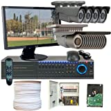 GW Security Inc WGV-16CHH1 Professional GW 1080P 2.8 to 12MM 2.1 Mega 700TVL Exview All Complete CCTV Security Camera System with DVR 22-Inch LED Monitor