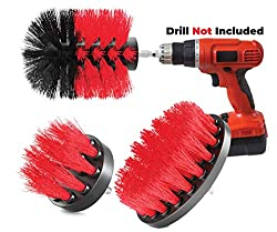 SAVE TIME - CLEAN FASTER This 3 piece power scrub brush kit is perfect for a variety of cleaning applications as it can clean almost anything. It is designed for use with most cordless drills. It offers different size and shapes brushes Two flat roun...