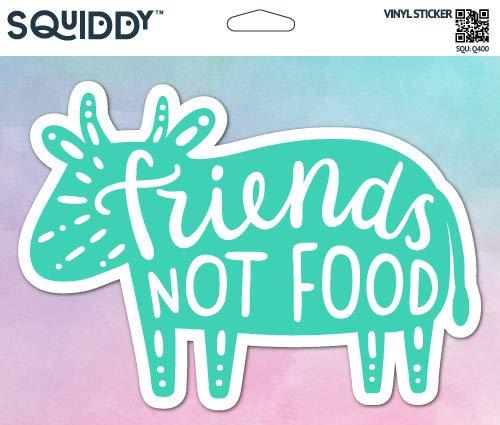 Squiddy Friends Not Food Vegetarian Vegan Cow - Vinyl Sticker for Car, Laptop, Notebook (5