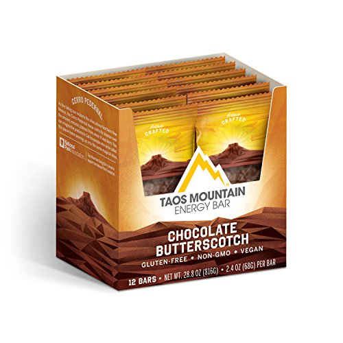 Taos Mountain Energy Bar – Chocolate Butterscotch (2.2 Ounce, 12 Count)