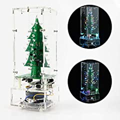 ☆[Production Name]: DDIY DIY 3D Christmas Tree Assemble Kit with 7 Color Flashing LED for Electronics Solder Practice  ★[Assembly Instructions]:  The products you receive are parts that need to be assembled by yourself, so you need soldering ...