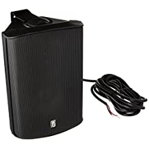 Poly-Planar 5-Inch x 7-Inch Compact Marine Box Speakers (Black, Pair)