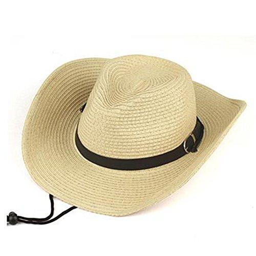 09983ce1e8962f Men Beachwear Sun Protection Straw Hats Visor Western Style - Import It All