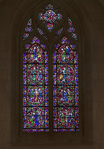 Photograph| Stained-glass window, one of 77, in the Duke University Chapel on the campus of the university in Durham, North Carolina 1 Fine Art Photo Reproduction 16in x 24in