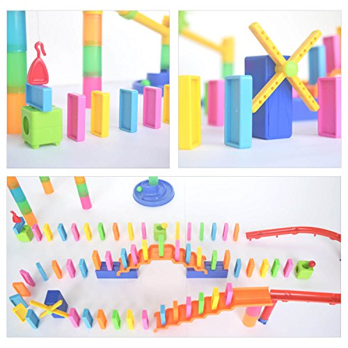 durable modeling Marble Run Toy with Dominos - 130 Pcs Marble Maze