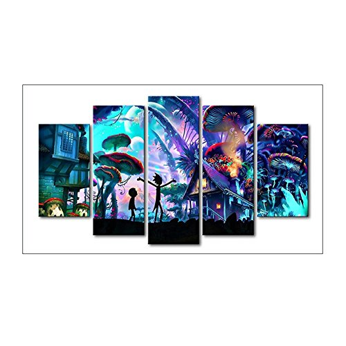 (VKTECH Halloween Mushroom 5D DIY Diamond Painting Kit 5-Combination Full Round Rhinestone Embroidery Cross Stitch Best Gift Home Wall Picture)