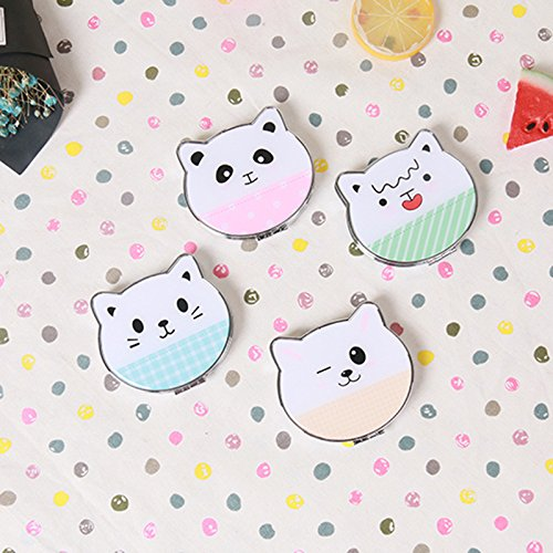YChoice Cute Baby Toy Mini Cat Shape Metal Small Glass Mirrors Cosmetic Accessory Expression Style by YChoice