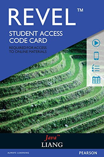 REVEL for Liang Java --  Access Card by Pearson