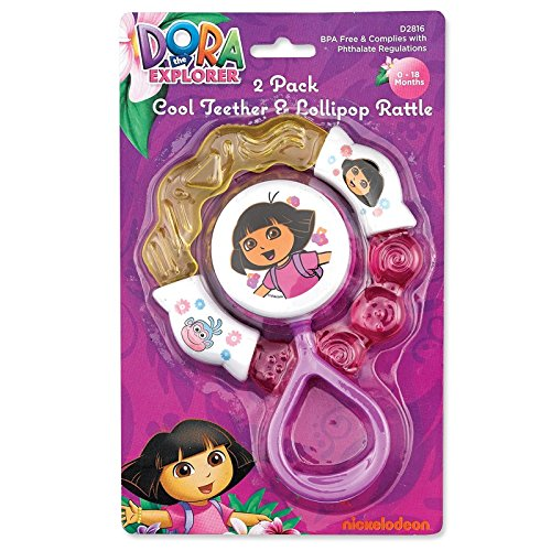 Nickelodeon Dora Cool Teether And Lollipop Rattle